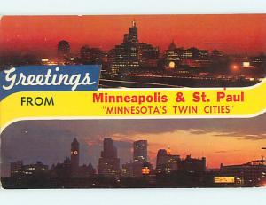 Pre1980 GREETINGS FROM - VIEWS OF TWIN CITIES Minneapolis - St. Paul MN r9202