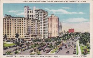 Florida Miami Biscayne Bouleveard Looking North From Flagler Street 1934