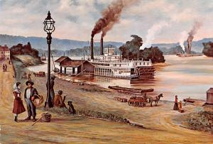 Marietta Wharf 1882 - Artist William E Reed