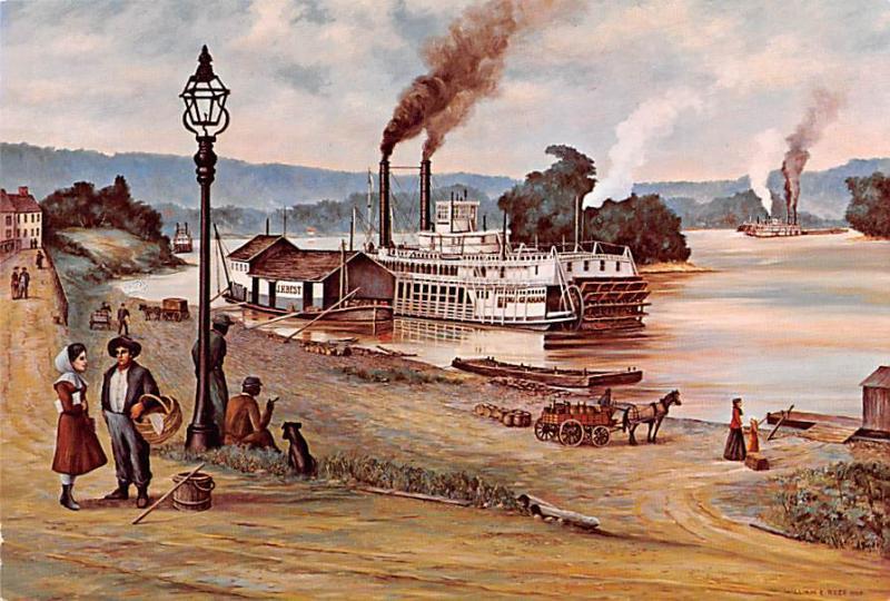 Marietta Wharf 1882 - Artist William E Reed