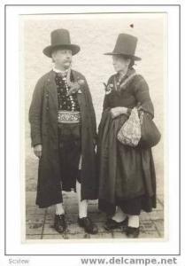 RP : Austria   1910s Older Couple in Top hats