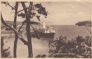 Menai Bridge , Anglesey, Wales, United Kingdom, 10-20s ; Steamer at pier