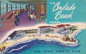 Puerto Rico San Juan The Condado Beach Hotel  1953
