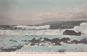 SAN FRANCISCO, California, 1900-10s; When the flowing tide comes in, Land's E...