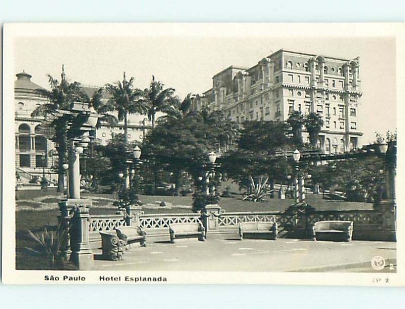 Old rppc ESPLANADA HOTEL Sao Paulo BRAZIL t3083