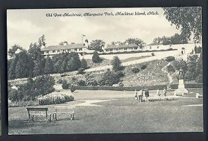 Mackinac Island, Michigan/MI Postcard, Old Fort, Mackinac