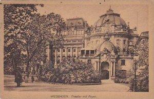 Germany Wiesbaden Theater mit Foyer 1920