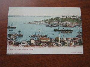 Turkey Postcard 1900-06 UDB Unused Port of Constantinople Ships