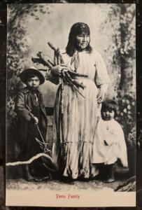 1907 San Francisco Ca USA Postcard Cover Native American Indian Pomo Family