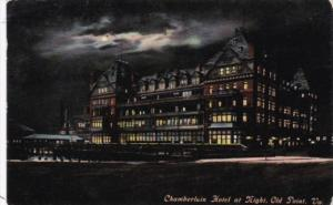 Virginia Old Point Comfort Chamberlain Hotel At Night