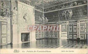 Old Postcard Fontainebleau Palace Guard Room
