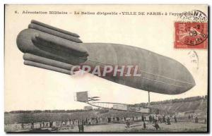 Old Postcard Jet Aviation Zeppelin Airship Balloon City of Paris l & # 39appa...