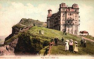 Vintage Postcard 1910's Rigi-Kulm Nature Landscape Buildings Switzerland
