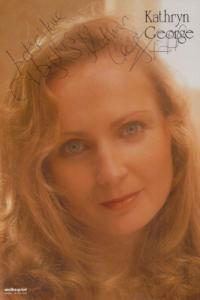 Kathryn George Hollyoaks Vintage Hand Signed Official Rare Cast Card Photo