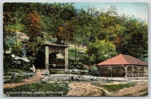 Eureka Springs Arkansas~Magnetic Springs Rock Shelter~Open Air Pavilion~c1910