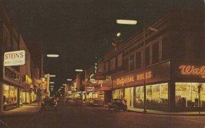 ALEXANDRIA, Louisiana, 1950-60s ; Third Street at Night