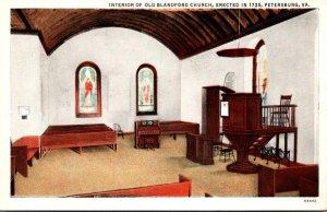 Virginia Petersburg Interior Of Old Blandford Church Erected 1735 Curteich