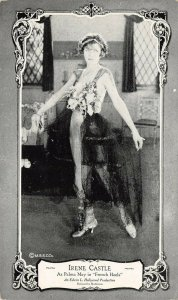 LP01 Irene Castle Silent Film Movie Actor Star Postcard French Heels