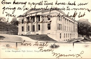 Connecticut Naugatuck High School 1907 Rotograph