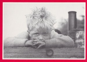 Child on Moorhen Wagtail Narrowboat 1961 Grand Union Canal Postcard