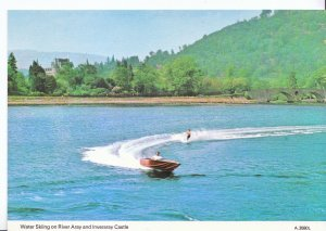 Sport Postcard - Water Skiing on River Aray and Inveraray Castle     A7720