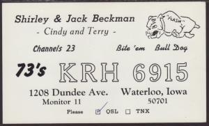 KRH-6915 Beckman Waterloo,IA QSL Card