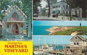 Massachusetts Greetings From Martha's Vineyard Multi View 1978