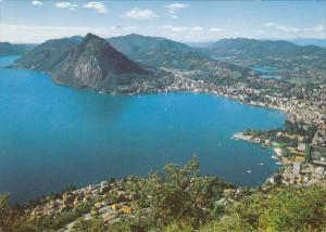 Switzerland Lugano con San Salvatore