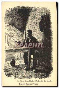 Old Postcard Mont Saint Michel Blanqui in prison