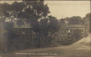 Hillsboro NH Contoocook Mills c1910 Real Photo Postcard
