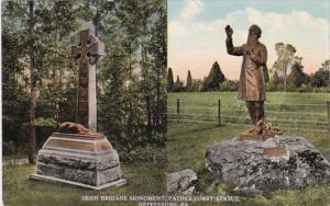 Pennsylvania Gettysburg Irish Brigade Monument Father Corby Statue Curteich