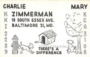 Charlie Zimmerman, KKI2239 Baltimore MD Unused