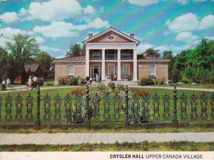 Canada Ontario Seaway Valley Crysler Hall Upper Canada Village