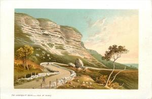 Isle of Wight vintage pictorial card T. Nelson & sons - The Undercliff Road