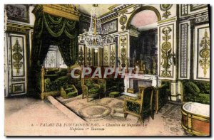 Old Postcard Palace of Fontainebleau Room of Napoleon 1st