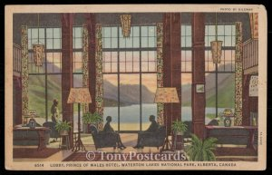 Lobby, Prince of Wales Hotel - Waterton Lakes National Park