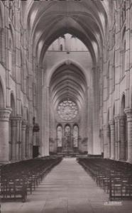 Laon Cathedral French French Real Photo Interior Vintage Postcard