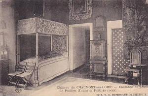 Chateau de CHAUMONT-sur-LOIRE, Chambre de Diane de Poitiers, Loir et Cher, Fr...