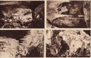 Stalagmite in Torquay Caves 4x Postcard s