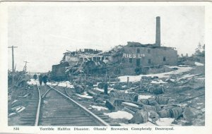 HALIFAX , N.S. , 1910s ; Explosion , Oland's Brewery