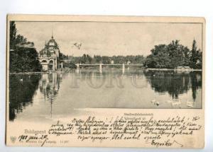 152094 Hungary BUDAPEST City Park Pond Stadtwaldchenteich OLD