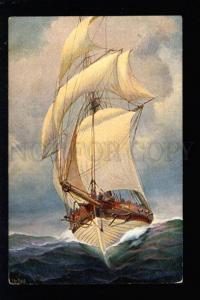 032608 VINTAGE HOLLAND WAR SHIP 19 C by RAVE Vintage