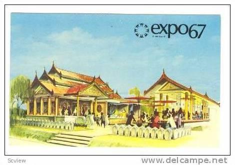 Expo:Pavilion of Burma,Montreal, Canada,1967