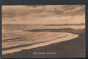 Wales Postcard - After Sunset, Porthcawl     T6838