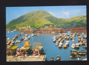 HONG KONG CHINA CHINESE ABERDEEN BIRDSEYE VIEW POSTCARD