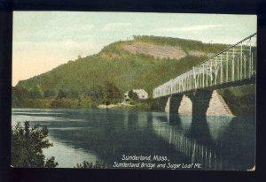 Sunderland, Massachusetts/MA Postcard, Sunderland Bridge & Sugar Loaf Mountain