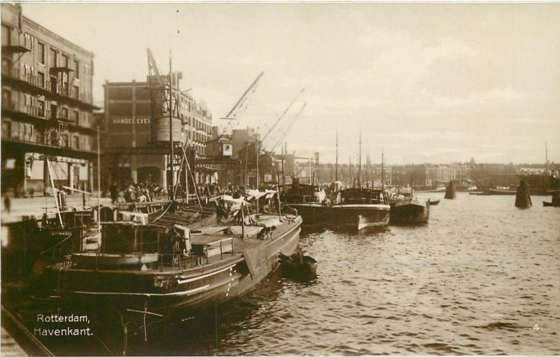 Rotterdam, Holland Netherlands Harbor? Real Photo Postcard