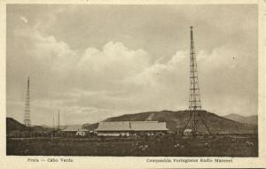 cape verde, PRAIA, Companhia Portugueza Radio Marconi, Wireless Station (1910s)