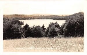 SPOFFORD NEW HAMPSHIRE SPOFFORD LAKE FROM KUHLKE HILL REAL PHOTO POSTCARD c1940s