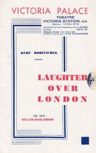 Billy Bennett Vera Nargo Laughter Over London Old Comedy Theatre Programme